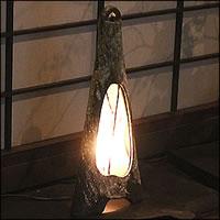 【 今だけポイント10倍 】信楽焼 照明 やさしい明かりが灯る陶器照明 和風照明 インテリアライト 陶器ライト あんどん ak-0085