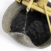 Shin raku pottery water electric tsukubai! Pottery tsukubai! Circulation and water Koto cave / water / 蹲 / Kakei / かけひ / world miniature Shin Raku Kakhi spring / Japanese style [dt-0030]