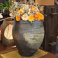 信楽焼 古陶変形花瓶 癒しを感じさせる土味の壷 つぼ 花瓶 花器 陶器 花入れ 一輪挿し しがらき 陶器 インテリア やきもの 焼き物 ha-0035