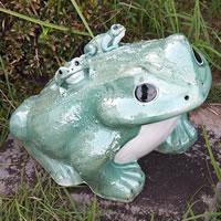 信楽焼 20号青蛙 縁起物カエル お庭に玄関先に陶器蛙 やきもの 陶器 しがらきやき 蛙 陶器かえる 信楽焼カエル ka-0056