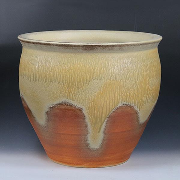 信楽焼 陶器掛け湯つぼ。陶器浴槽と一緒にお使い 頂ける大ツボ。ご希望のサイズの壷をオーバーメイド 浴槽用陶器のかけ湯つぼ 信楽焼 やきもの かめ 瓶 信楽焼風呂 陶器風呂 ky-0012