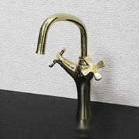 【 今だけポイント10倍 】立ち水栓 手洗い鉢用の立水栓 混合水栓 se-0005