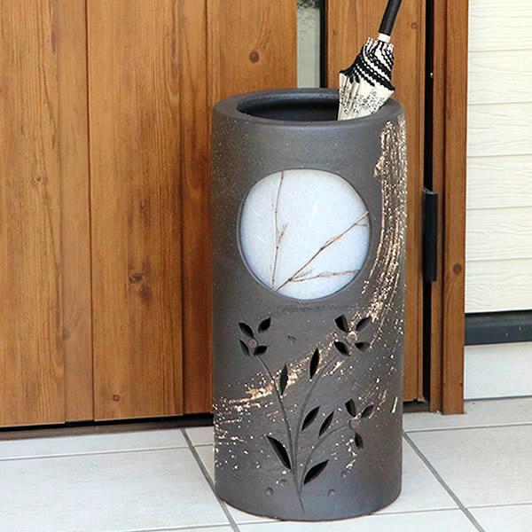 傘立て 陶器傘立て 信楽焼かさたて 和風傘立て 傘入れ 壷 しがらき カサタテ やきもの傘立て かさたて陶器 玄関 インテリア 傘立て陶器 和風 kt-0118