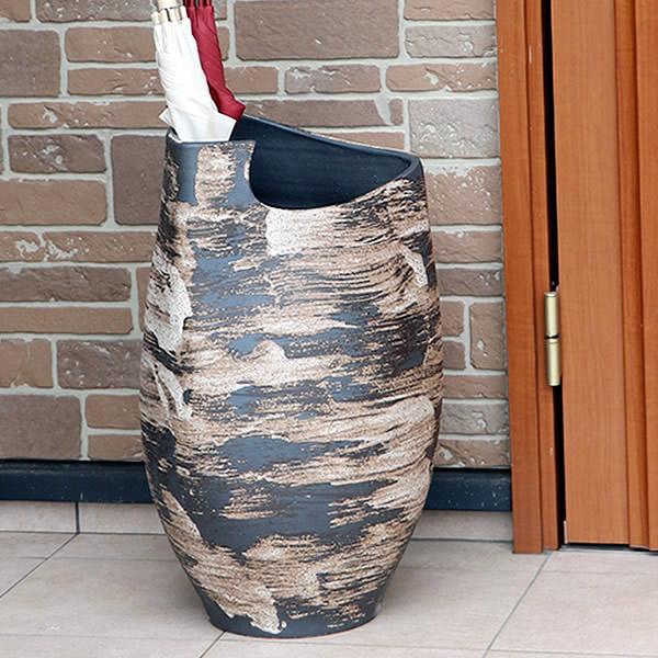 【 今だけポイント10倍 】傘立て 陶器傘立て 信楽焼かさたて 和風傘立て 傘入れ 壷 しがらき カサタテ やきもの傘立て かさたて陶器 玄関 インテリア 傘立て陶器 和風 傘立 kt-0206