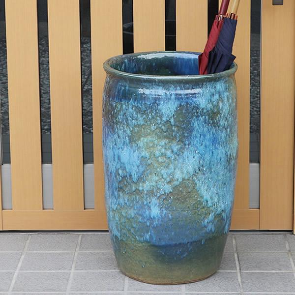 傘立て 陶器傘立て 信楽焼かさたて 和風傘立て 傘入れ 壷 しがらき カサタテ やきもの傘立て かさたて陶器 玄関 インテリア 傘立て陶器 和風 傘立 kt-0236