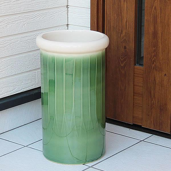 傘立て 陶器傘立て 信楽焼かさたて 和風傘立て 傘入れ 壷 しがらき カサタテ やきもの傘立て かさたて陶器 玄関 花器 花瓶 オリベ傘立て kt-0315