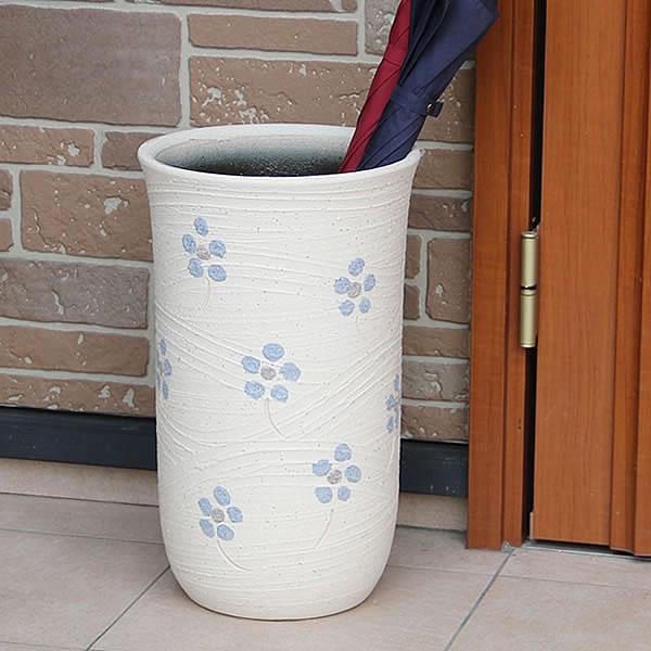 傘立て 陶器傘立て 信楽焼かさたて 和風傘立て 傘入れ 壷 しがらき カサタテ やきもの傘立て かさたて陶器 玄関 花器 花瓶 押し花傘立て kt-0334