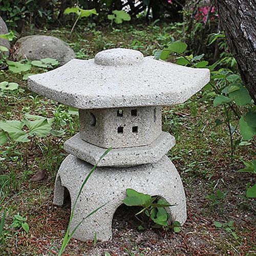 信楽焼 14号六角雪見燈篭 お庭を飾る陶器燈籠 和風を 感じさせてくれます。信楽焼トウロウ とうろう 灯籠 陶器 陶器燈籠 ok-0041