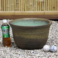 No. 11 kiln skin water bowls Shin Raku suiren pots! Ideal for fish bowls, fish bowl! Water lilies pots / pottery water lily pot / Lotus pots / already pot / medaka pots / pots / pottery / water coupled pots / water bowl / water lilies pots / easy baked L
