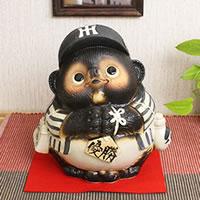 Call Fortune bringer Hanshin Tigers won please Pom! Shin raku pottery Tanuki / pottery Tanuki Tanuki Tanuki / Tanuki