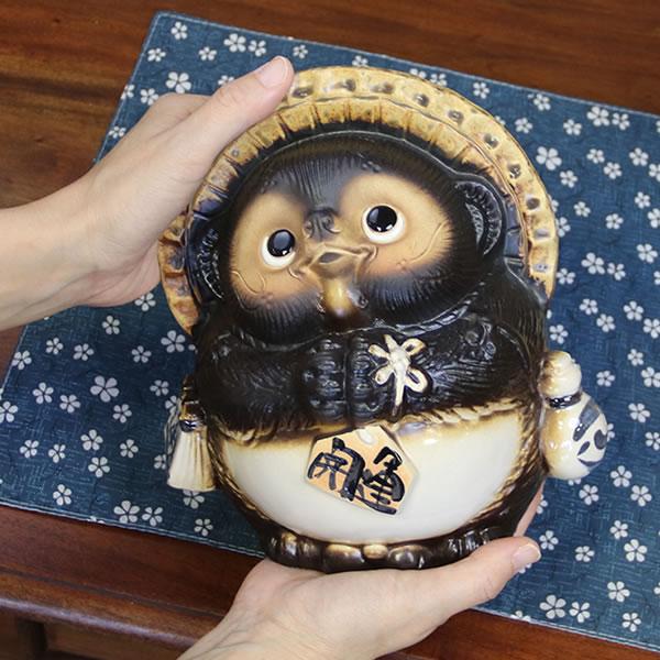 7 Ask raccoon! Good luck Shigaraki raccoon! And good luck raccoon / Pom / pottery Tanuki and raccoon figurines / pottery / while big Shine / pottery / raccoon Shigaraki please Pom [ta-0005]