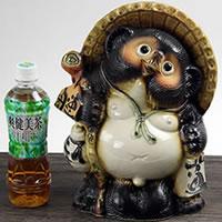 10 Good luck raccoon! Shigaraki-yaki raccoon! And luck raccoon / pottery Tanuki and raccoon dog figurines / pottery / while big Shine / pottery / Tanuki raccoon Shigaraki and Badger [ta-0009]