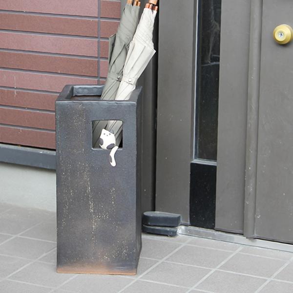 Shin Shigaraki Pottery small cat square-shaped umbrella stand! The Interior of the door ... & Mauichi Honten | Rakuten Global Market: Shin Shigaraki Pottery small ...