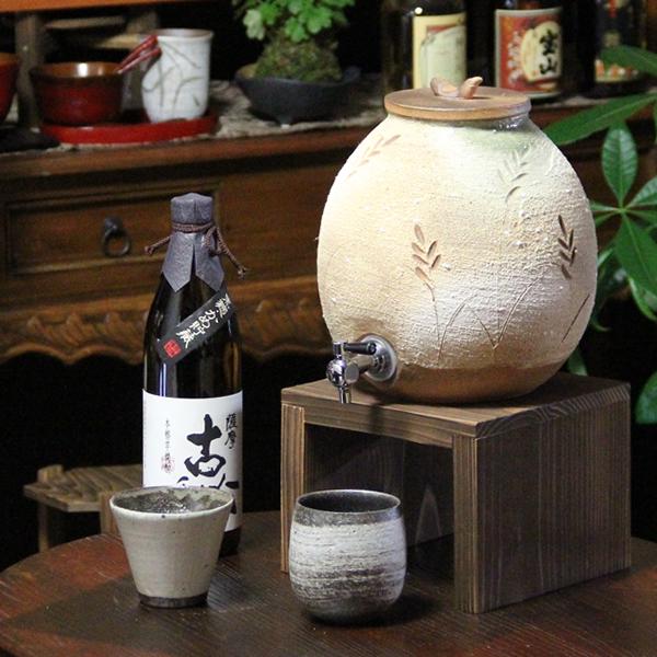 信楽焼 穂の香(大)焼酎サーバー 陶器サーバー 信楽焼サーバー 焼酎サーバー ギフトにも最適 焼酎ビン 瓶 ss-0100