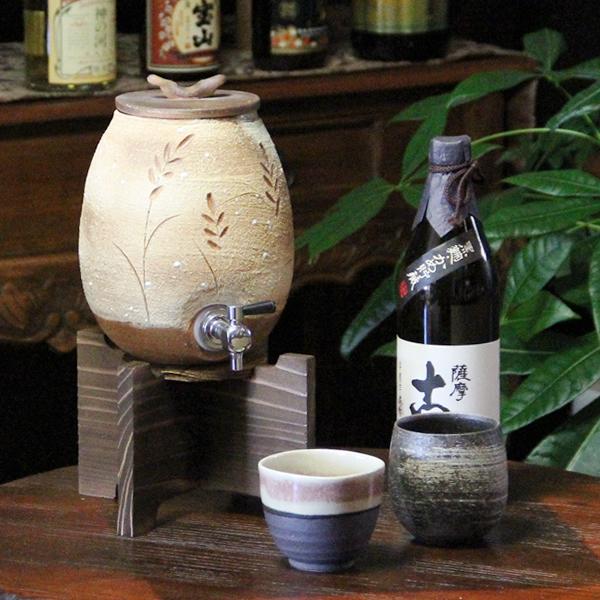 穂の香焼酎サーバー 焼酎が格段に美味しくなる 信楽焼焼酎サーバー 陶器サーバー やきもの しがらきやき 焼き物 焼酎ビン 瓶 信楽 ss-0106
