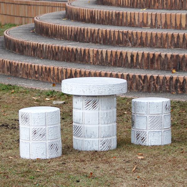 送料無料 15号信楽焼ガーデンテーブル 陶器テーブル 焼き物 お庭、ベランダ用庭園セット ガーデンテーブルセット 陶器 イス 信楽焼テーブル ガーデンセット 屋外用 te-0003