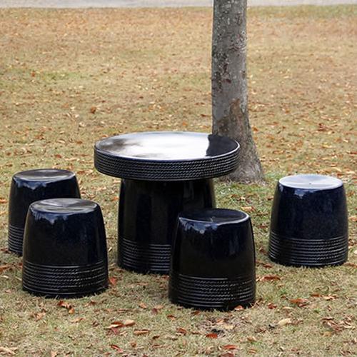 送料無料 20号信楽焼ガーデンテーブル 陶器テーブル 焼き物 お庭、ベランダ用庭園セット ガーデンテーブルセット 陶器 イス 信楽焼テーブル ガーデンセット 屋外用 te-0006