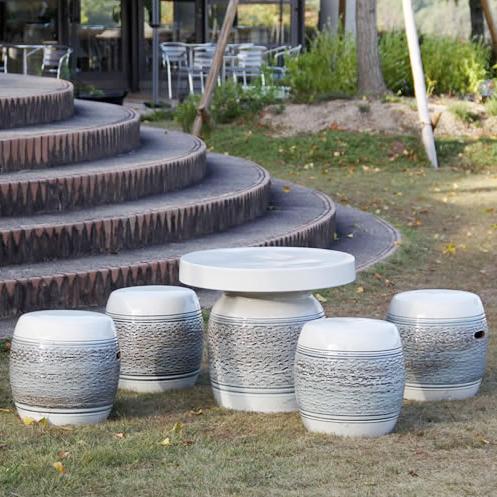 送料無料 20号信楽焼ガーデンテーブル 陶器テーブル 焼き物 お庭、ベランダ用庭園セット ガーデンテーブルセット 陶器 イス 信楽焼テーブル ガーデンセット 屋外用 te-0036
