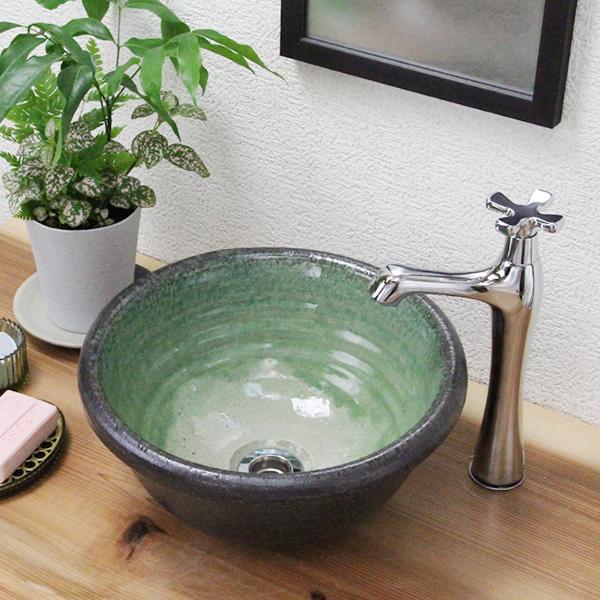 Amazing Shin Shigaraki Pottery Green Glass (small) Toilet Bowl! Tired Of Not Wash  Basin ...