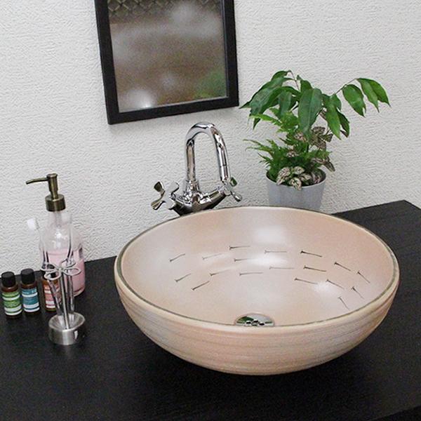 信楽焼 めだか手洗い鉢 飽きのこない洗面鉢 お洒落な洗面器 手洗器 手洗鉢 洗面ボール 洗面シンク 陶器 洗面台 手洗い鉢 洗面ボウル 洗面陶器 やきもの 和風 tr-3080