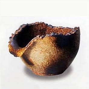 信楽焼 陶器浴槽用湯こぼし 陶器風呂と一緒に お使い頂ける陶器湯口。陶器つぼ湯用の湯差し口 吐水口 ts-735