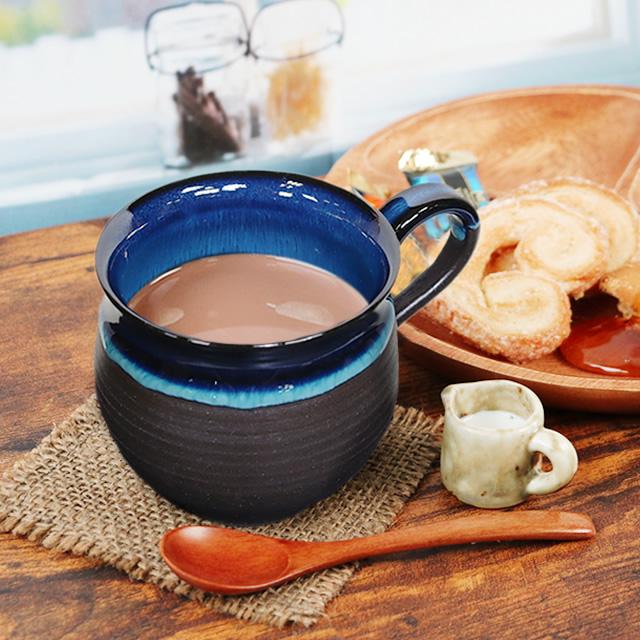 ワンランク上の贅沢が出来るマグカップ ビアマグ スープカップ 陶器 ギフト 贈り物 高級品 おしゃれ 信楽焼 湖鏡 マグカップ ko-mug