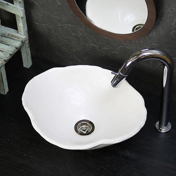 手洗い鉢 陶器洗面 信楽焼 洗面ボウル 手洗器 洗面ボール 手洗鉢 陶器 洗面鉢 鉢 手洗い器 洗面シンク 洗面器 洗面台 ボール 和風 やきもの しがらき トイレ用 tr-2250