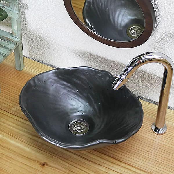 手洗い鉢 陶器洗面 信楽焼 洗面ボウル 手洗器 洗面ボール 手洗鉢 陶器 洗面鉢 鉢 手洗い器 洗面シンク 洗面器 洗面台 ボール 和風 やきもの しがらき トイレ用 tr-2251