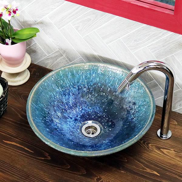 手洗い鉢 陶器洗面 信楽焼 洗面ボウル 手洗器 洗面ボール トイレ用 手洗鉢 陶器 洗面鉢 鉢 手洗い器 鉢 洗面シンク 洗面器 洗面台 ボール 和風 やきもの しがらき tr-2275