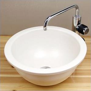 信楽焼 白マット(小)手洗い鉢 飽きのこない洗面鉢 お洒落な洗面器 手洗器 手洗鉢 洗面ボール 洗面シンク 陶器 洗面台 手洗い鉢 洗面ボウル 洗面陶器 やきもの 和風 tm-1037