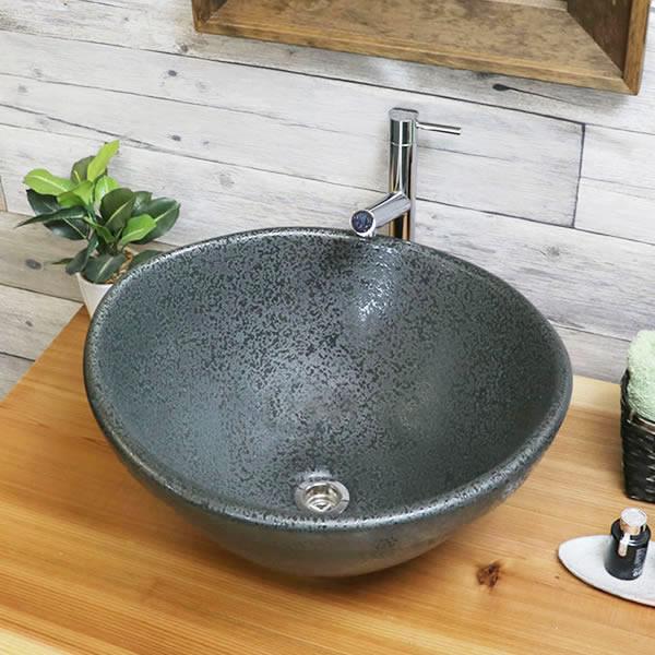 手洗い鉢 陶器洗面 信楽焼 洗面ボウル 手洗器 洗面ボール 手洗鉢 陶器 洗面鉢 鉢 手洗い器 洗面シンク 洗面器 洗面台 ボール 和風 据置き 埋め込み やきもの しがらき tm-4121
