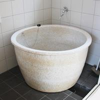 丸型 直径900 × 高さ550ミリ 信楽焼浴槽ロクロ成型タイプ 陶器浴槽 陶器風呂 つぼ湯 つぼ風呂 風呂釜 風呂桶 しがらきやき やきもの バスタブ 釜風呂 信楽焼ふろ hr-900-A