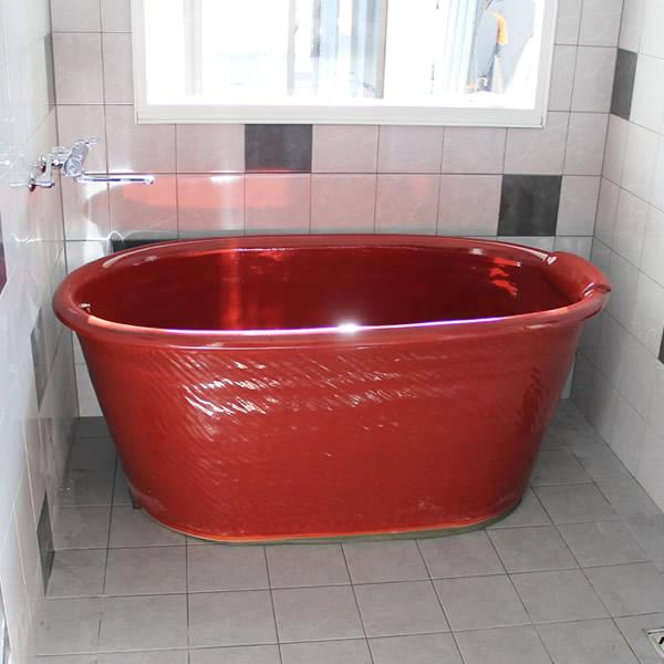 小判型浴槽 幅1400×奥行800× 高さ580mm 信楽焼浴槽 陶器風呂釜 陶器浴槽 陶器風呂 つぼ湯 つぼ風呂 風呂釜 風呂桶 しがらきやき やきもの バスタブ 釜風呂 信楽焼ふろ 露天風呂 yk-1400