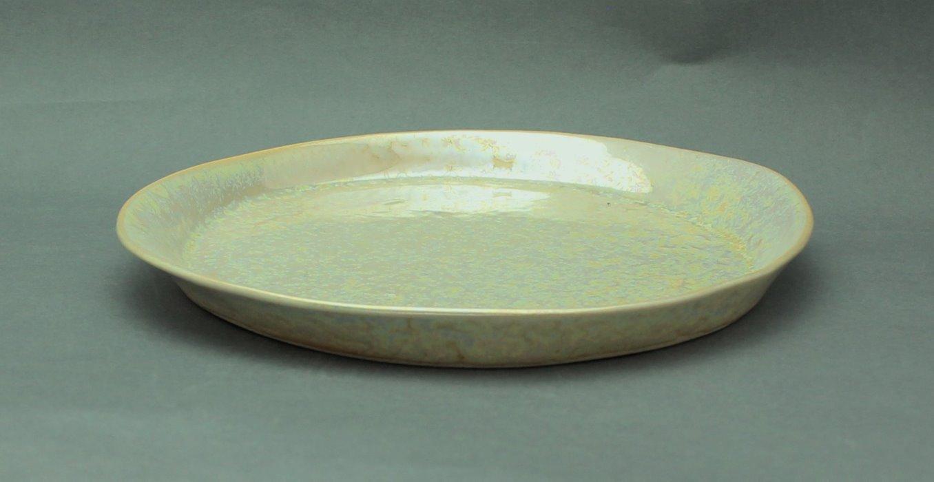 瀬戸焼 伝統工芸品パール釉 大皿