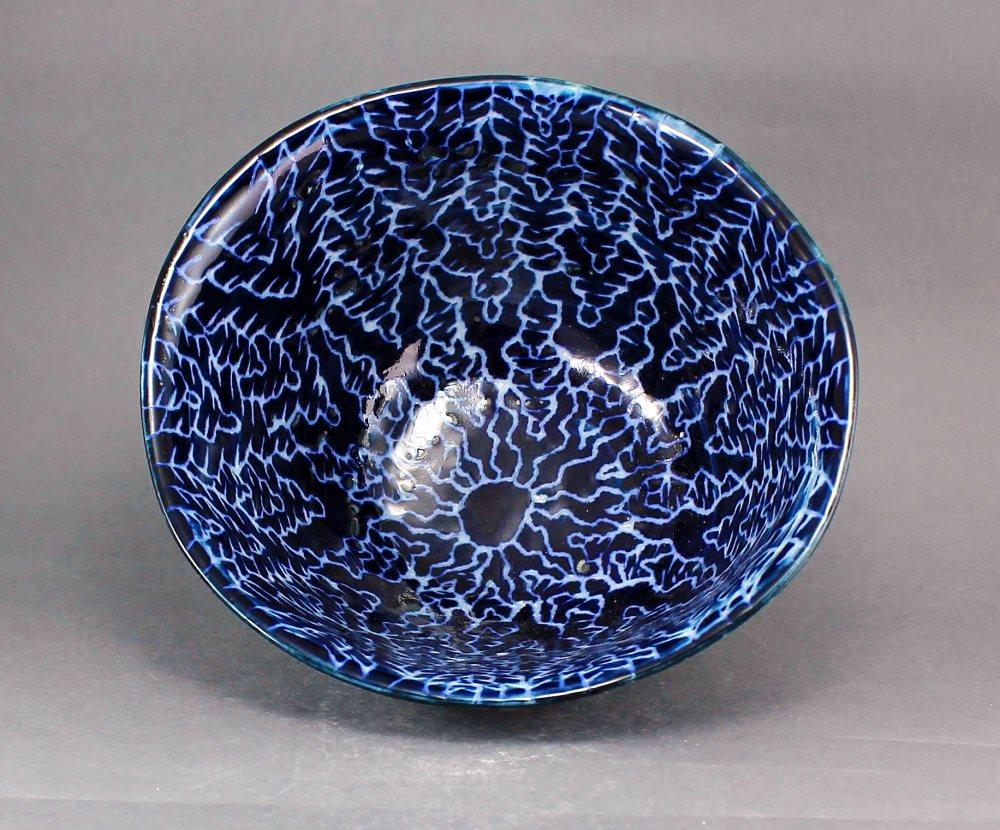瀬戸焼 オリジナル 手描き ルリ山絵 描き落とし 多様鉢