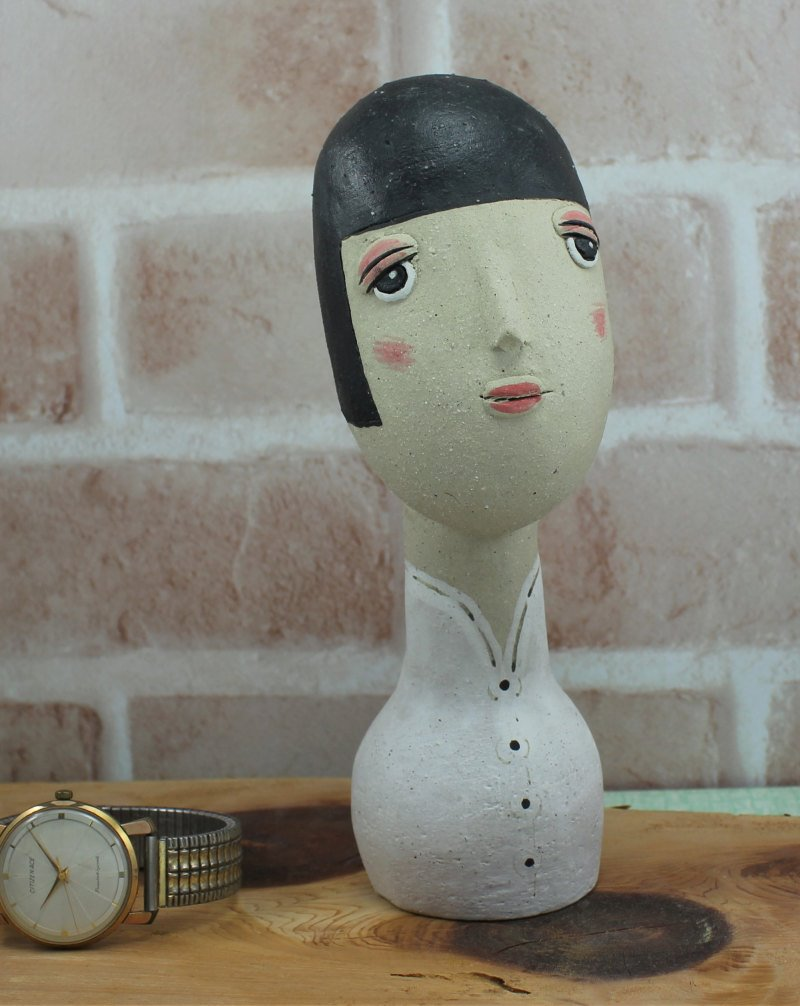 瀬戸焼 手づくり人形 (中)作品 02-3