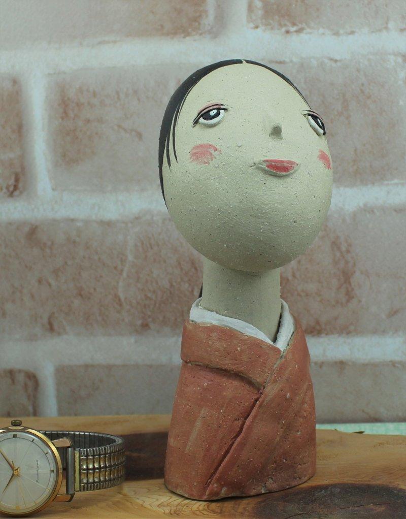 瀬戸焼 手づくり人形 (中)作品 02-6