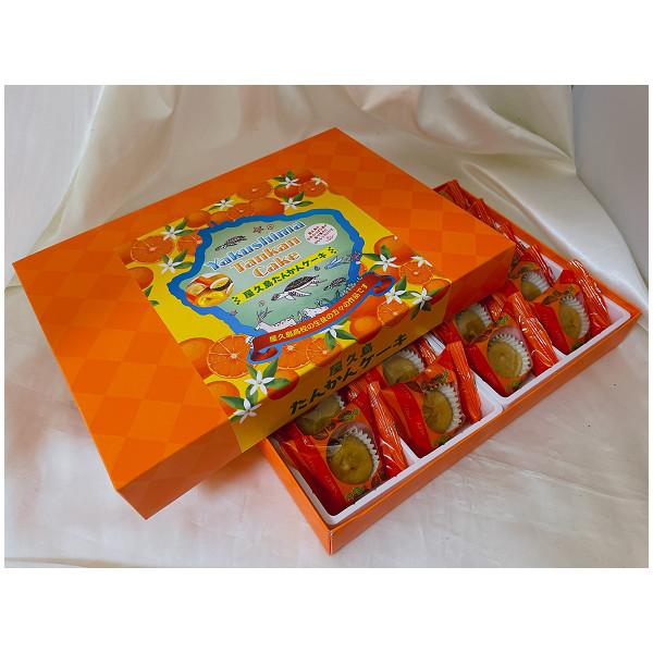 屋久島高校の生徒さんとのコラボ商品 お金を節約 屋久島たんかんケーキ 20個入り 直営限定アウトレット