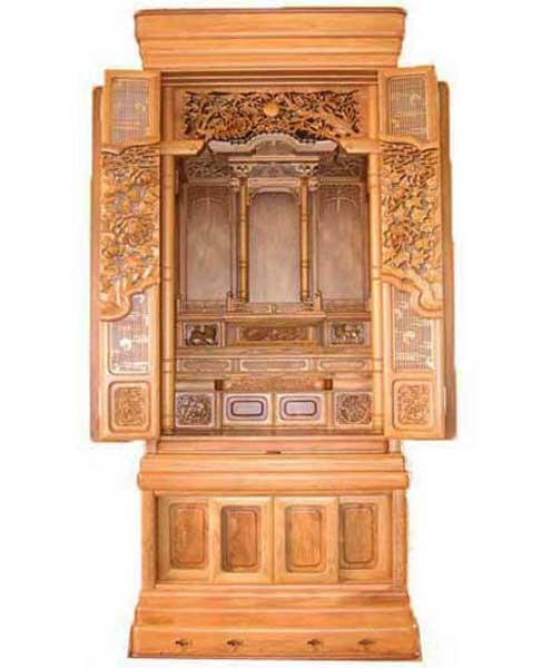 半間仏壇 57-21厚彫