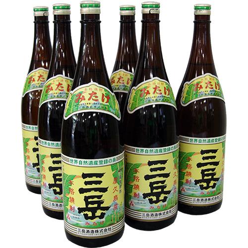 往復送料無料 10%OFF 屋久島の大自然の名水が育んだ芋焼酎 焼酎三岳 1800ml×6本