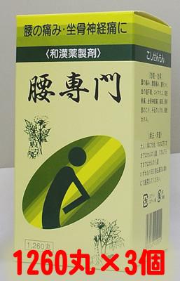 【第2類医薬品】《セット販売》天恵堂製薬 腰専門[ こしせんもん/コシセンモン ] 1260丸×3個
