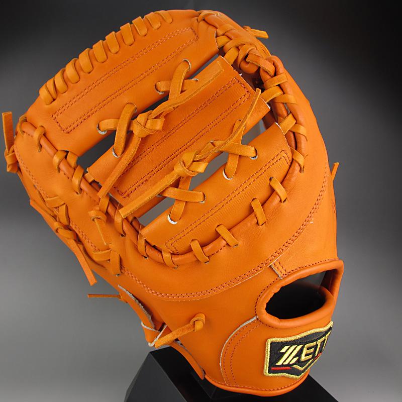 【送料無料】 ゼット ZETT 一般硬式一塁手用 左投げ PROSTATUS プロステイタス BPROFM13(5600RH)オレンジ