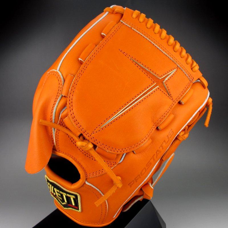 【送料無料】 2018年モデル ゼット ZETT 一般硬式投手用 右投げ プロステイタス シリーズ BPROG41(5600)オレンジ