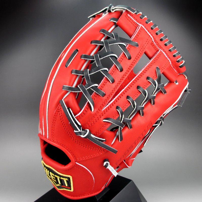 【送料無料】 2017年モデル ゼット ZETT 一般硬式外野手用右投げ プロステイタス シリーズ BPROG67(6419LH)レッドxブラック