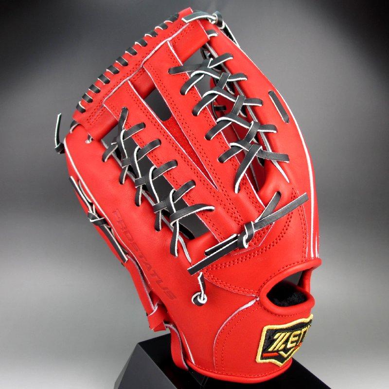 【送料無料】 2017年モデル ゼット ZETT 一般硬式外野手用左投げ プロステイタス シリーズ BPROG67(6419RH)レッドxブラック