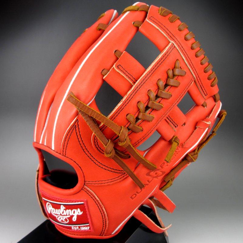 【送料無料】 2016年モデル ローリングス Rawlings 硬式 内野手用 右投げ 魅せる捕球が男前 要グラブ GH6HO6L (ROR)レッドオレンジ