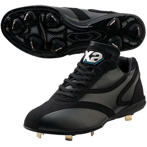 【送料無料】 2013年モデル ザナックス 樹脂底スパイク 高校野球ルール対応スパイク BS600AL ブラック×ブラック-honten-