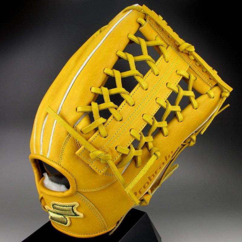 オイル染みあり 【送料無料】エスエスケイ SSK 硬式グラブ 外野手用 右投げ プロブレイン Probrain PHX67 (46)ターメリックタン