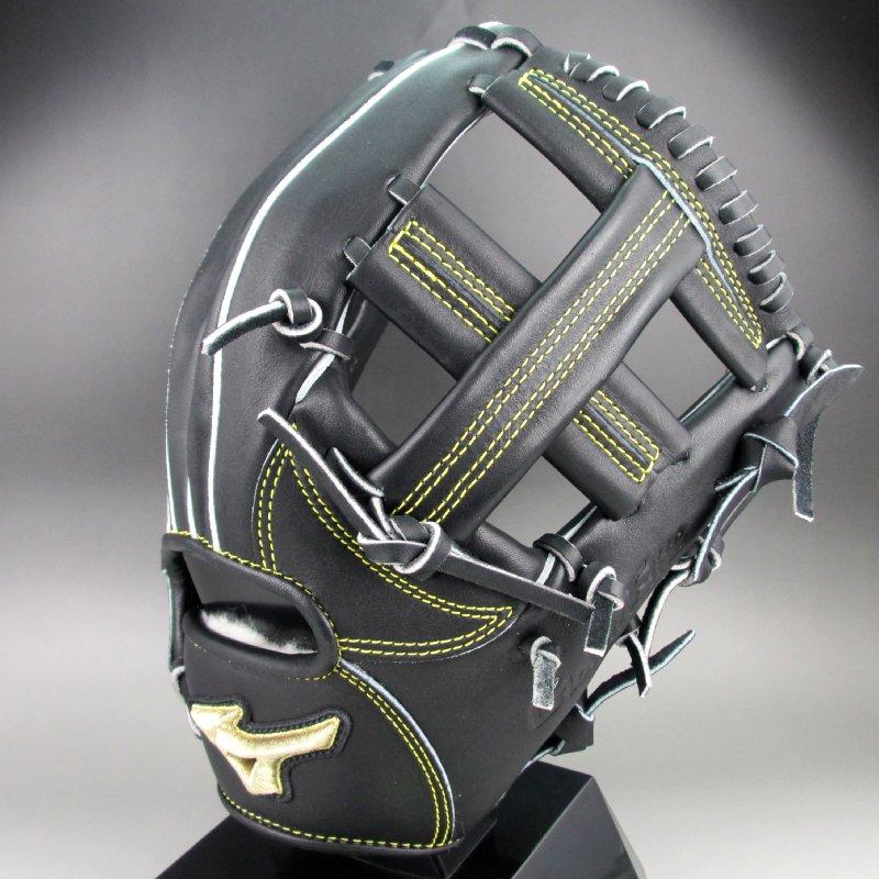 【送料無料】2019年モデル ミズノ MIZUNO 一般硬式二塁手・遊撃手用 右投げ グローバルエリート H Selection∞ 1AJGH20323 (09)ブラック