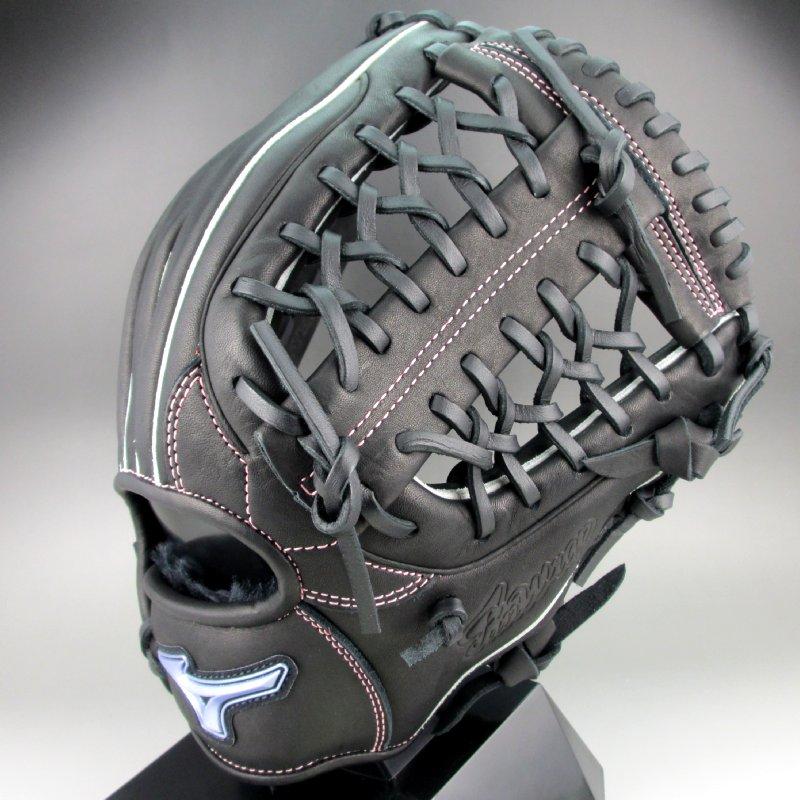 2018年モデル ミズノ ソフトボール オールラウンド用右投げ ファンラップ 1AJGS19410(09)ブラック